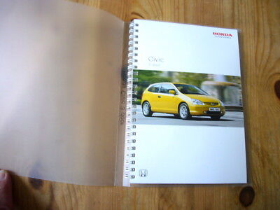 Honda Civic press kit, 2001, excellent condition, rare & original