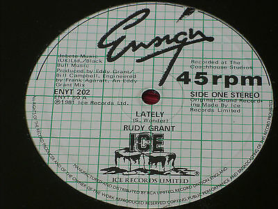 "Rudy Grant:  Lately    12""  RARE  STUNNING NEAR MINT"