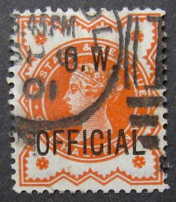 QV ½d O.W. official, good used. Sg.O31. Cat £150