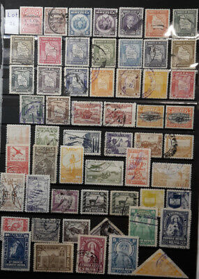 Bolivien - Lot Briefmarken gestempelt/2 Albumseiten - Lot 26