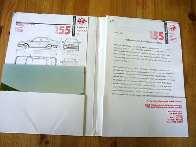Alfa Romeo 155 press kit, 1992, excellent condition, rare and original