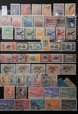 Bolivien - Lot Briefmarken gestempelt/2 Albumseiten - Lot 27