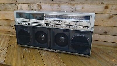 Vintage 1980s SHARP GF-767 Stereo Boombox Ghetto Blaster