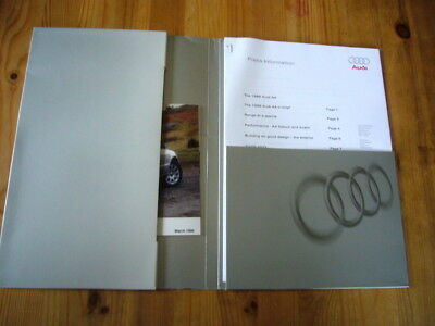 Audi A4 press kit, 1999, excellent condition, rare & original