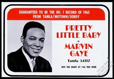 1965 Marvin Gaye photo Pretty Little Baby record release trade print ad