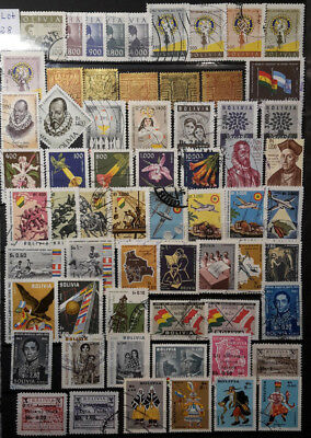 Bolivien - Lot Briefmarken gestempelt/2 Albumseiten - Lot 28