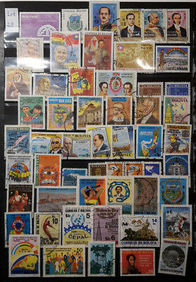 Bolivien - Lot Briefmarken gestempelt/2 Albumseiten - Lot 29