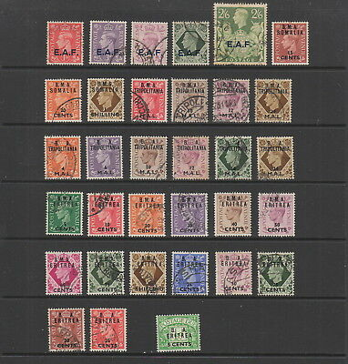 Somalia , Eritrea, Tripolitania mostly used collection. 33 stamps.