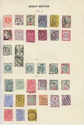 GB QV - KGV collection on 4 pages