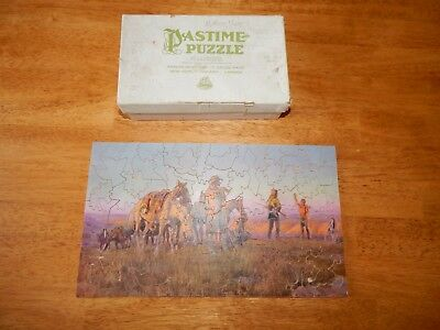 """Vintage Pastime Puzzle Wood Jigsaw Puzzle """"the Pipe Of Peace"""" Over 100 Pieces*"""