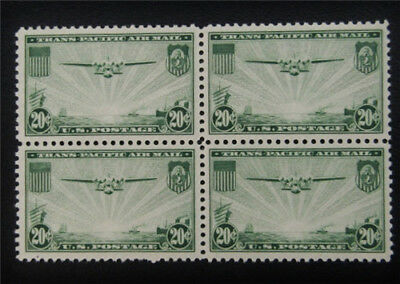 nystamps US Air Mail Block Stamp # C21 Mint OG NH $45 Block Of 4