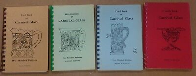 Vtg 1965 1975 Book of Carnival Glass 100 Patterns 1st 2nd 3rd 4th Marion Hartung