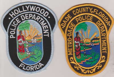 Hollywood & Dade County FL  Police patches