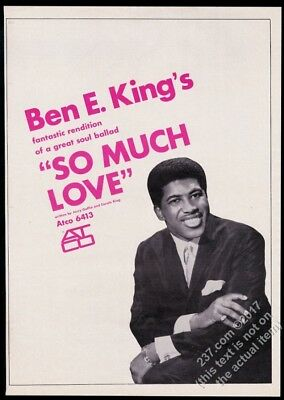 1966 Ben E King photo So Much Love record release vintage trade print ad