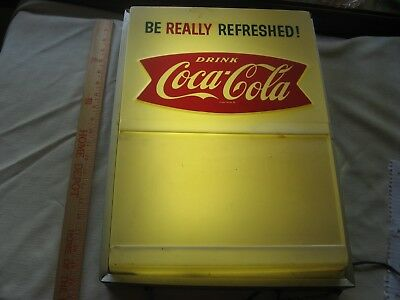 Vintage Antique Coke Coca Cola Lighted Sign Old Advertising Early Works Nr