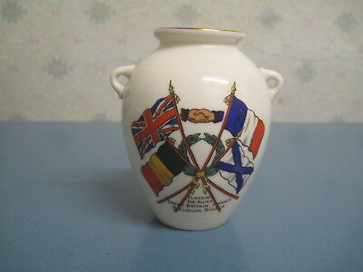 W.h Goss Ww1 Flags Oe The Allies Crested China