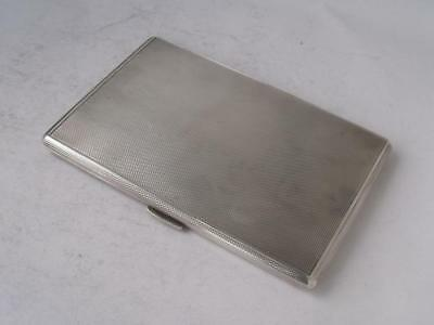 Large Heavy Garrard Solid Sterling Silver Cigarette Case 1965/ L 12.6 cm/ 191 g