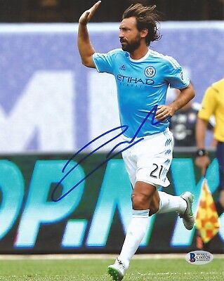 Andrea Pirlo Autographed Signed New York City Fc Mls Soccer Bas Coa 8X10 Photo