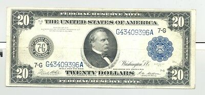 $20 Series 1914 Federal Reserve Notes higher grade and nice looking