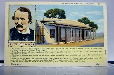 New Mexico NM Taos Kit Carson Home Postcard Old Vintage Card View Standard Post