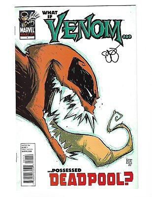 What If Venom Possessed Deadpool VF/NM Signed By Skottie Young