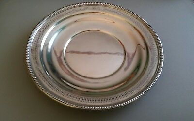 """Wallace Sterling Silver Platter 10"""" Repousse & Filligree #261-3 * 214 gr"""