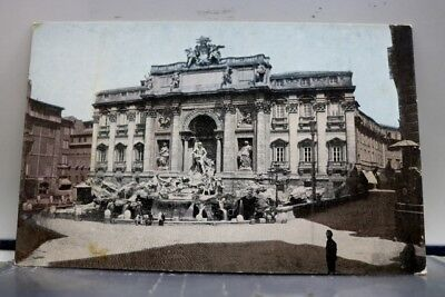 Italy Rome Trevi Fountain Postcard Old Vintage Card View Standard Souvenir Post