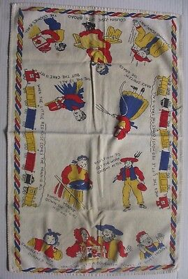 Vintage Dish Towel Amish Pennsylvania Dutch German