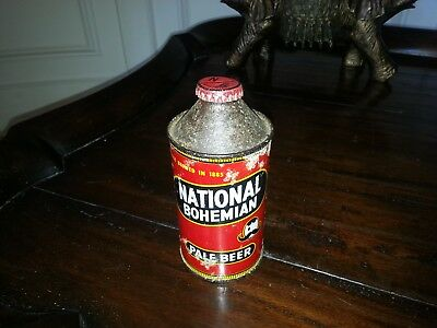 NATIONAL BOHEMIAN Cone Top Beer Can National Brewing Baltimore, MD Nice Cap