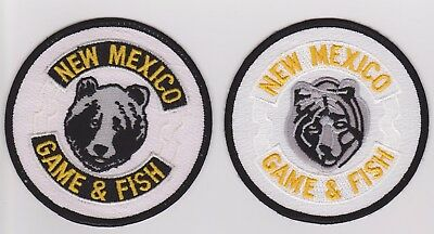 2 Different Older Styles New Mexixo Game & Fish Game Warden Police Patches