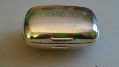 Vintage Gorham Sterling Silver Soap Box Case * 150 gr * 925 * Monagramed * NR