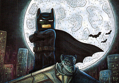 BATMAN Modern Russian postcard
