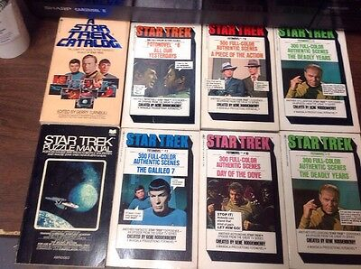 Vintage Paperbacks Lot of 8 Star Trek Photo Novels & More Others