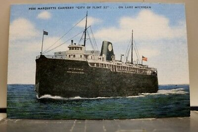 Boat Ship Pere Marquette Ferry Lake Michigan Postcard Old Vintage Card View Post