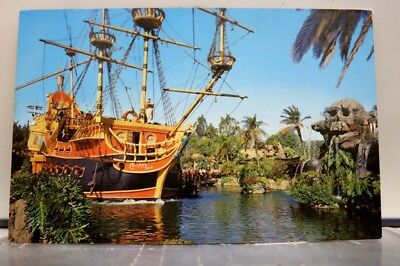 Disneyland Pirate Ship Postcard Old Vintage Card View Standard Souvenir Postal