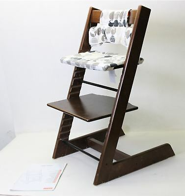 STOKKE Tripp Trapp Stained Oak Wood Baby & Child Adjustable High Chair & Cushion