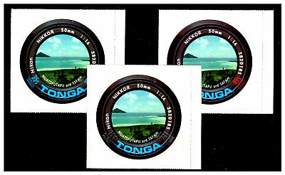 Tonga Camera Lens Self Adhesive Stamps. Mint No Hinge. #346