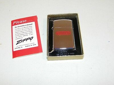 Original Vintage 1970's Slim Zippo Lighter Advertising Conoco Gas & Oil Co. E.C.