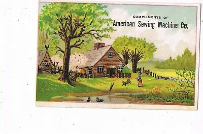VICTORIAN ADVERTISING / TRADE Card   AMERICAN SEWING MACHINE COMPANY