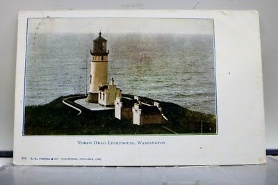 Washington WA North Head Lighthouse Postcard Old Vintage Card View Standard Post