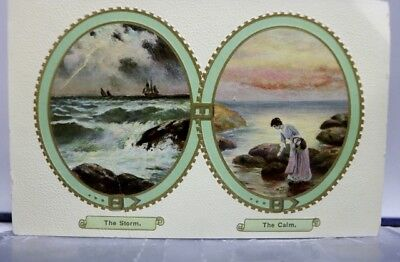 Greetings the Storm and Calm Postcard Old Vintage Card View Standard Souvenir PC