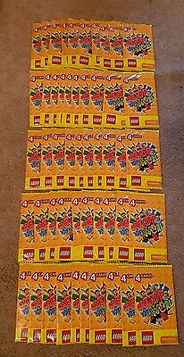 Sainsbury Lego Create the World 50 PACKETS/200 CARDS new and sealed.