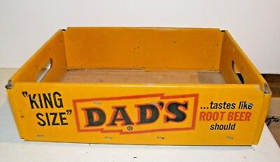 Original Vintage Dad's Root Beer King Size Heavy Duty Cardboard Crate 24-12 oz