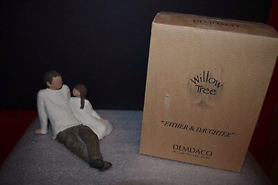 """Willow Tree """"Father and Daughter"""" Figurine - 2000 -Demdaco - W/ Box - Flawless!"""