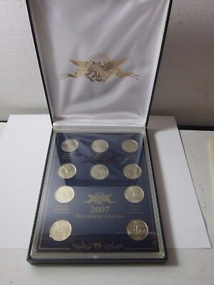 2007 Statehood Quarters Complete Collection Usa Gallery In Box Mint Coins Lot