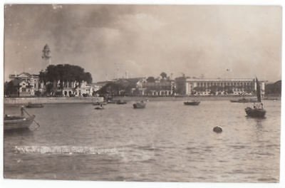 Early RPPC Singapore Buildings Real Photo Postcard 1935