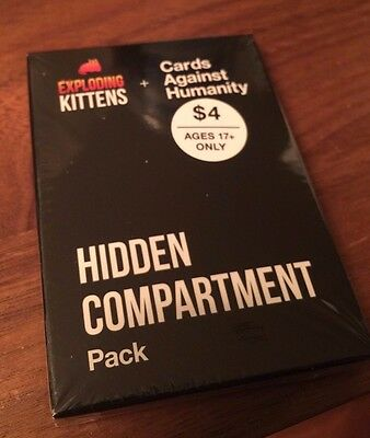 Cards Against Humanity Exploding Kittens Hidden Compartment Pack New Sealed