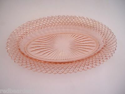 Anchor Hocking Miss America Pink Depression Glass Celery Dish Trinket Tray 1940s