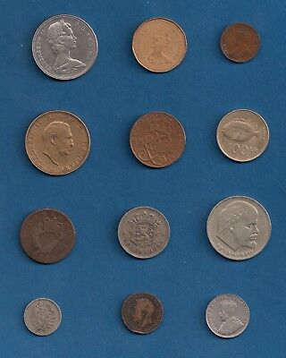 Canada, 1822 Ireland 1/2 Penny, Misc. Europe Coins 12 Piece Lot