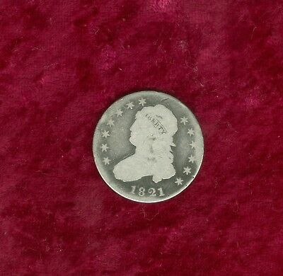 1821 Capped Bust Quarter in Overall Good